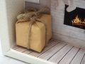 Geldgeschenk Verpackung Weihnachten XMAS Kamin Geschenk LED Lichterkette Gutschein 8