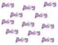 Streudeko Holz Baby Lila Schriftzug Tischdeko Taufe Geburt Baby Party  1