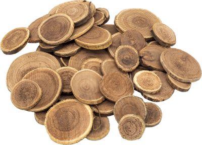 250g Holzscheiben Rund Natur Holz Basteln Streudeko Tischdeko
