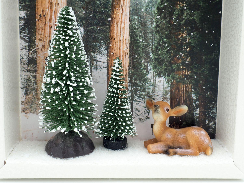 Geldgeschenk Verpackung Weihnachten XMAS Reh Wald Tanne Geschenk Gutschein
