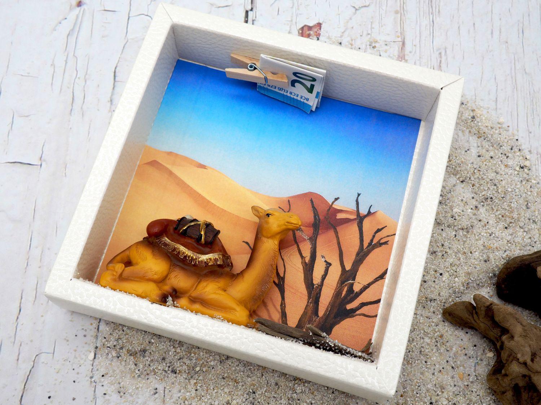 Geldgeschenk Verpackung Wüste Ägypten Marokko Tunesien Arabische Emirate Urlaub Reise Geldverpackung