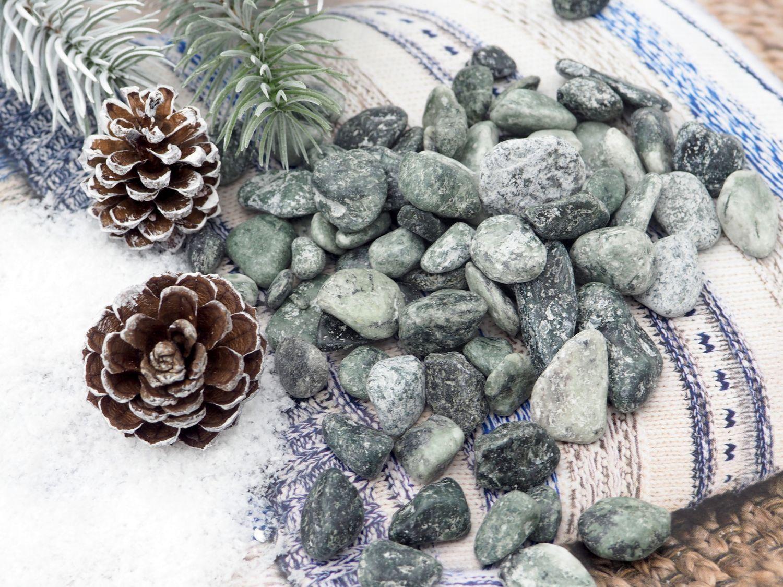 500g Natursteine Mint Natur Steine Streudeko Tischdeko Deko Basteln