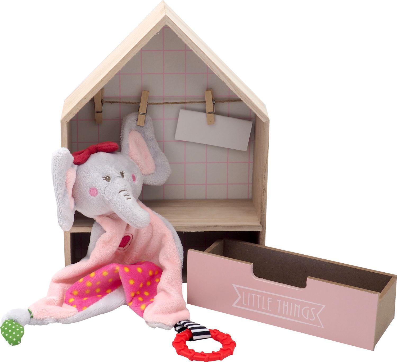 Geschenk Baby Taufe Geburt Geschenkset Kuscheltier Elefant Rosa Taufgeschenk Geschenkidee Babyparty Baby Shower