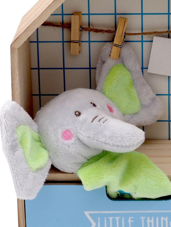 Geschenk Baby Taufe Geburt Geschenkset Kuscheltier Elefant Grün Taufgeschenk Geschenkidee Babyparty Baby Shower