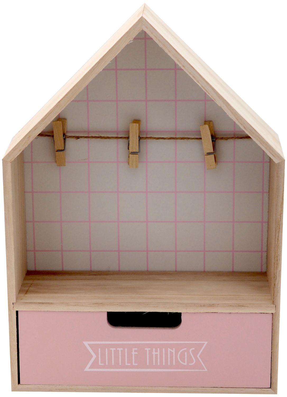 Deko Haus Aufbewahrung Holz Holzhaus Bilderrahmen Kinderzimmer Regal