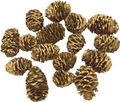 16 Zapfen Strictum Gold Deko Weihnachten Adventskranz Basteln Streudeko Tischdeko  1