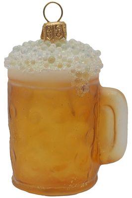 Christbaumschmuck Weihnachtsbaumschmuck Weihnachtsdeko Bier Maßkrug Glas