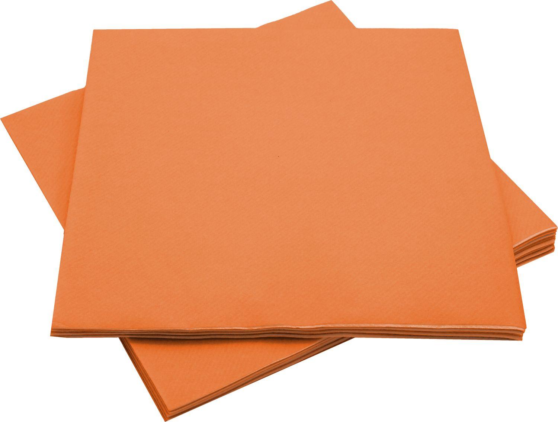 Servietten Tischdeko Orange Papierservietten Party Deko Hochzeit Geburtstag Herbst 40 x 40 cm 12 Stück