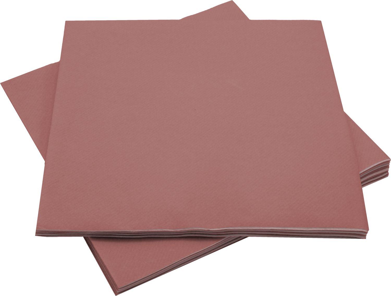 Servietten Tischdeko Altrosa Rosa Papierservietten Party Deko Hochzeit Geburtstag Taufe 40 x 40 cm 12 Stück