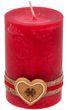 4 Adventskerzen Kerzen Stumpenkerzen Rot Creme Kekse Plätzchen Weihnachten Advent Deko Tischdeko 4