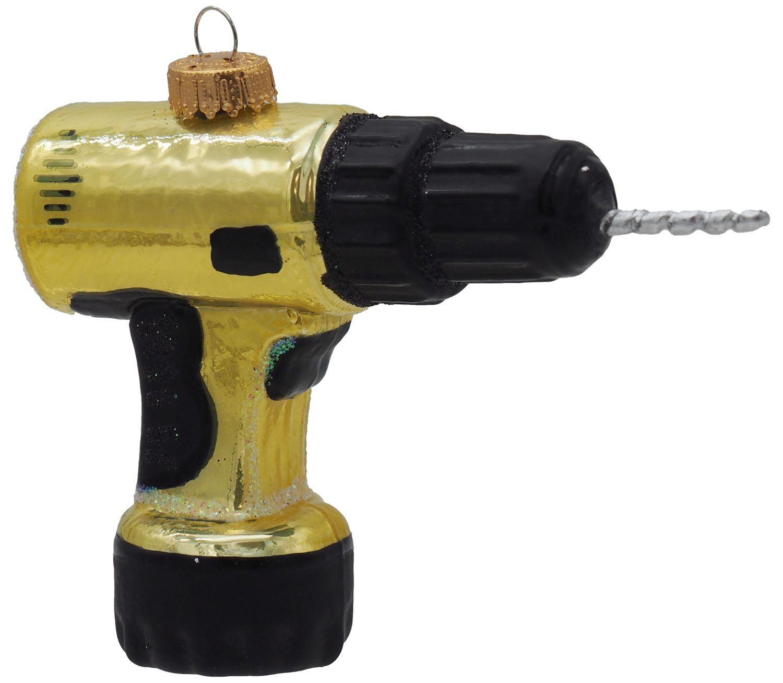 Christbaumschmuck Weihnachtsbaumschmuck Weihnachtsdeko Bohrmaschine Akkuschrauber Werkzeug Glas Geschenk Männer Deko Weihnachten