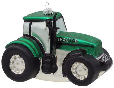 Christbaumschmuck Weihnachtsbaumschmuck Weihnachtsdeko Traktor Trecker Grün Glas Geschenk Männer Deko Weihnachten