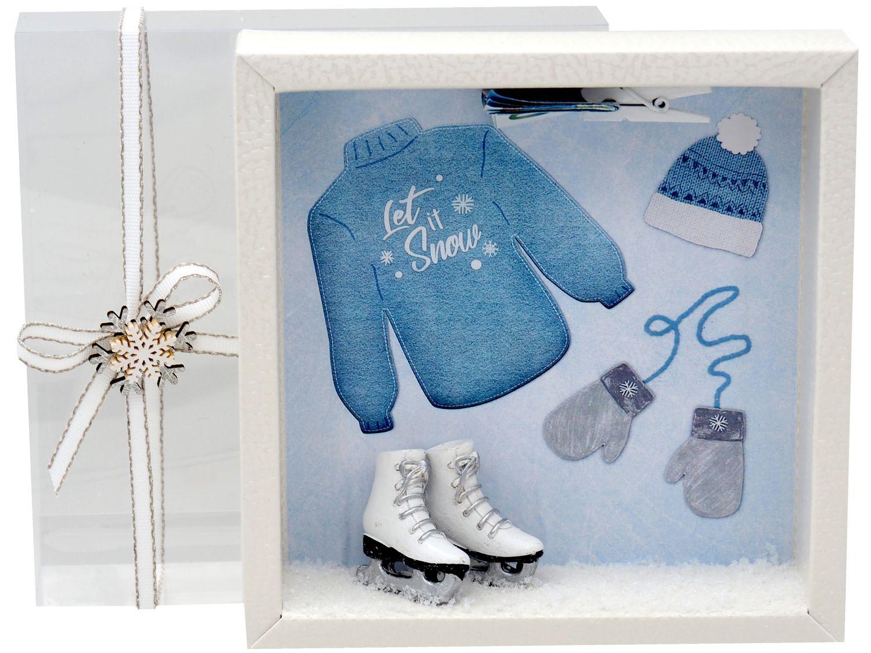 Geldgeschenk Verpackung Schlittschuhe Schlittschuhlaufen Winter Geschenk Weihnachten