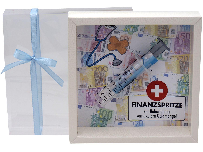 Geldgeschenk Verpackung Finanzspritze Geld Zuschuss Lustig Gutschein Geburtstag
