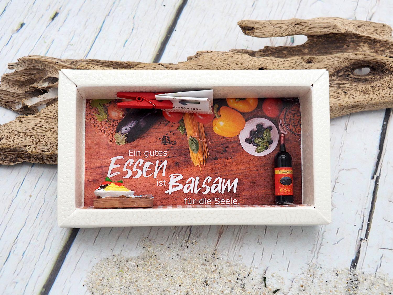 Geldgeschenk Verpackung Essen Restaurant Essensgutschein Gutschein Geschenk Geburtstag