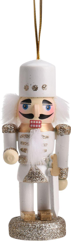 Weihnachtsbaumschmuck Christbaumschmuck Nussknacker Weiß Gold Weihnachtsdeko Weihnachten Deko
