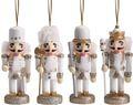 Weihnachtsbaumschmuck Christbaumschmuck Nussknacker Weiß Gold Weihnachtsdeko Weihnachten Deko 1