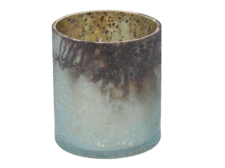 Kerzenhalter Teelichthalter Glas Advent Weihnachtsdeko Deko Weihnachten Mint Gold