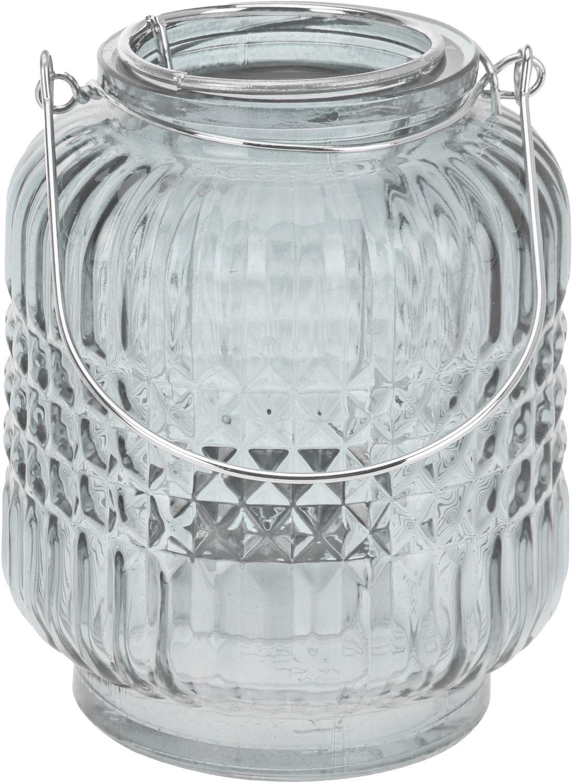 Windlicht Tischdeko Kerzenhalter Teelichthalter Teelichtglas Deko Party Hellblau