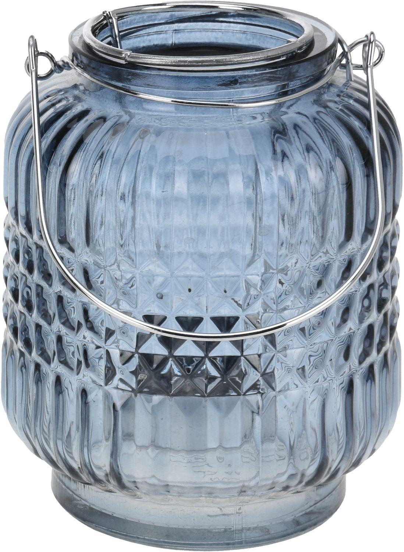 Windlicht Tischdeko Kerzenhalter Teelichthalter Teelichtglas Deko Party Blau
