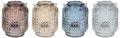 Windlicht Tischdeko Kerzenhalter Teelichthalter Teelichtglas Deko Party Braun Creme Blau 1