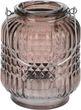 Windlicht Tischdeko Kerzenhalter Teelichthalter Teelichtglas Deko Party Braun  2