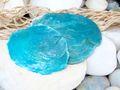 Capiz Muschel Blau Türkis Perlmuttscheiben Martime Deko 10 Stück Tischdeko Basteln 2