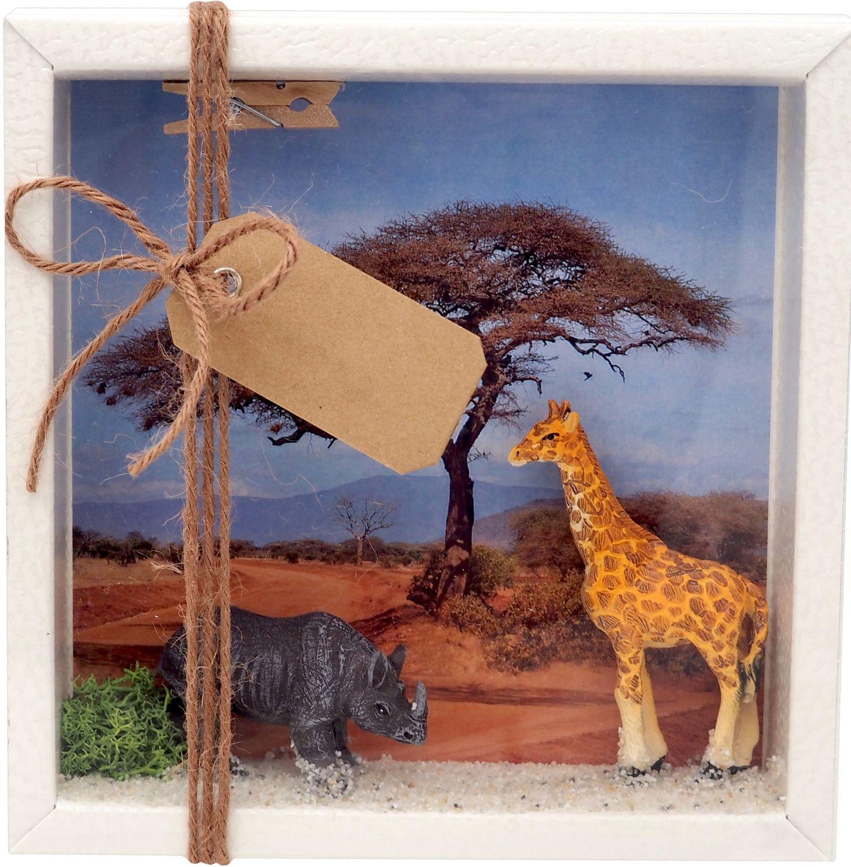Geldgeschenk Verpackung Afrika Safari Giraffe Nashorn Urlaub Reise Gutschein Geschenk Abenteuerurlaub