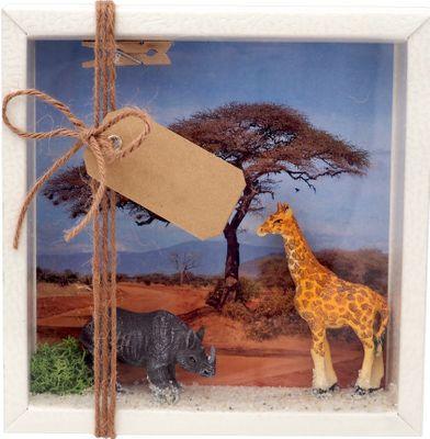Geldgeschenk Verpackung Afrika Safari Giraffe Nashorn Urlaub Reise