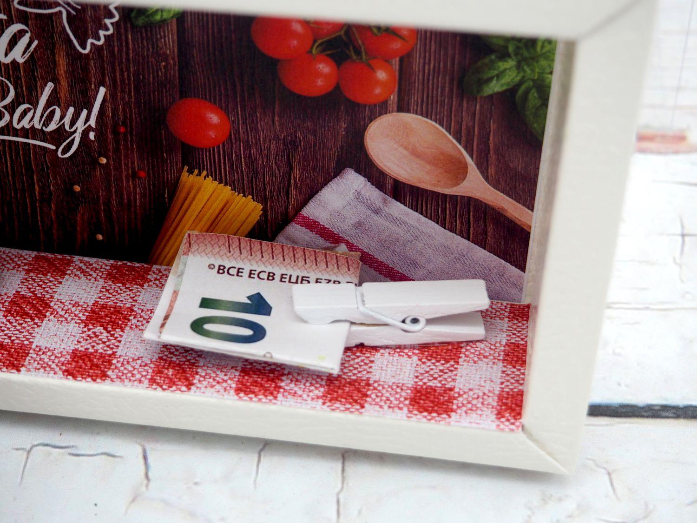 Geldgeschenk Verpackung Pasta Essen Restaurant Essensgutschein Gutschein Geschenk Geburtstag