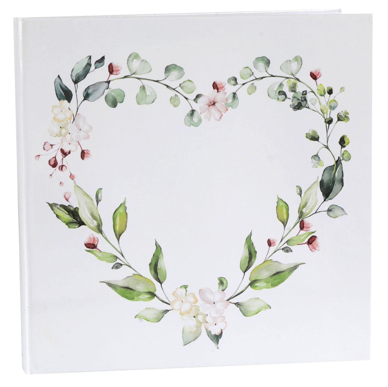 Gästebuch Hochzeitsgästebuch Hochzeitsbuch Tischdeko Hochzeit Herz Eukalyptus Blätter Blumen Greenery Geburtstag