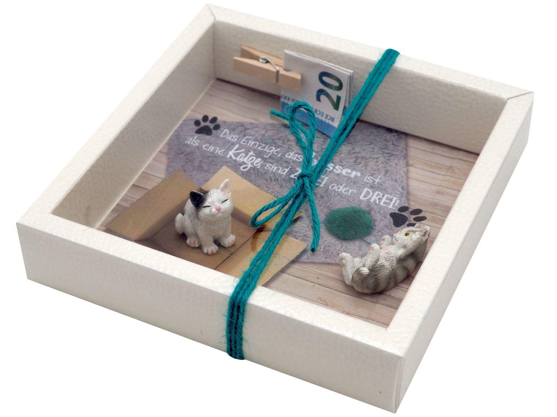 Geldgeschenk Verpackung Katzen Zuschuss Geld Haustier Gutschein Tierbedarf Geburtstag