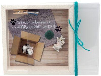 Geldgeschenk Verpackung Katzen Zuschuss Geld Haustier Gutschein Geburtstag