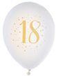 Luftballon Zahlenballon Geburtstag Zahlen Weiß Gold Metallic Partydeko Raumdeko 2