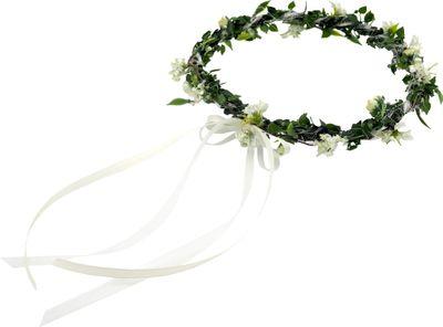 Haarschmuck Haarkranz Weiß Grün Vintage Kopfschmuck Hochzeit Blumenkind Kommunion