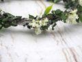 Haarschmuck Haarkranz Weiß Grün Vintage Kopfschmuck Hochzeit Blumenkind Kommunion 3