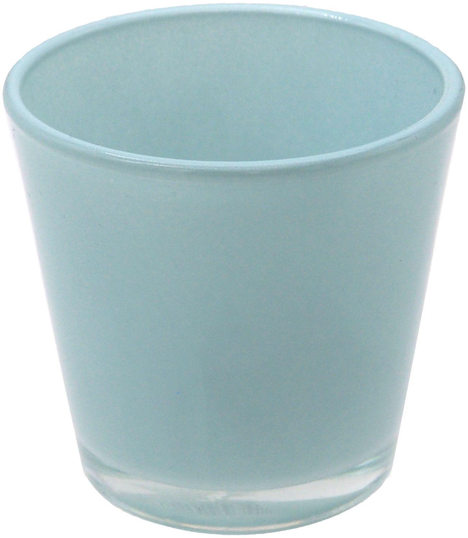 Teelichthalter Teelichtglas Blau Hellblau Tischdeko Deko Maritim Taufe