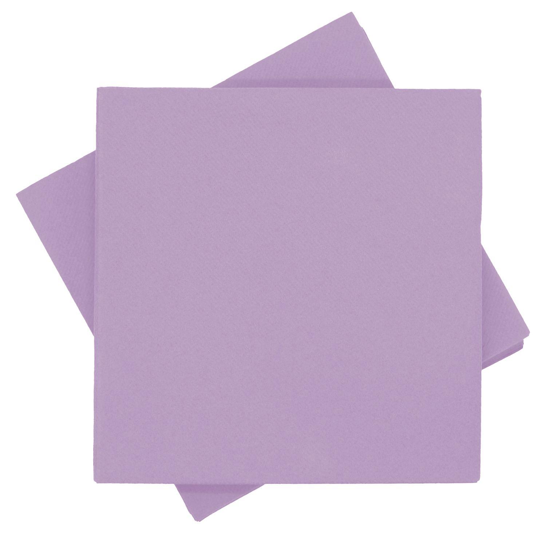 Servietten Tischdeko Lila Flieder Taufe Kommunion Konfirmation Party Deko 40 x 40 cm 25 Stück Papierservietten