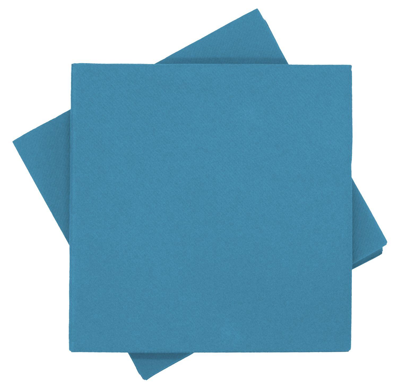 Servietten Tischdeko Petrol Petrol Blau Kommunion Konfirmation Sommer Party 40x40 cm 25 Stück