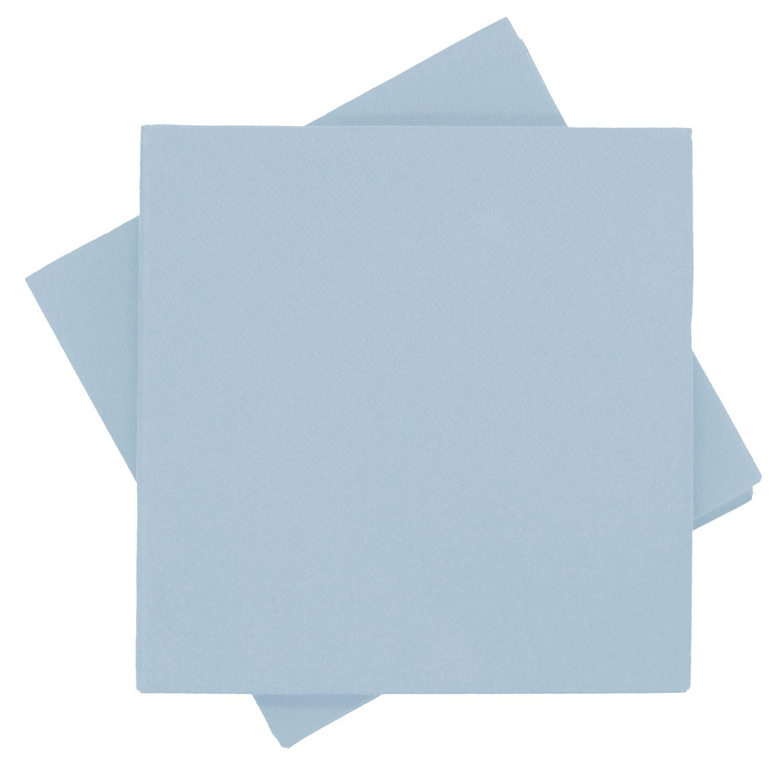 Servietten Tischdeko Blau Hellblau Papierservietten 40 x 40 cm Party Deko Taufe Kommunion Konfirmation 25 Stück