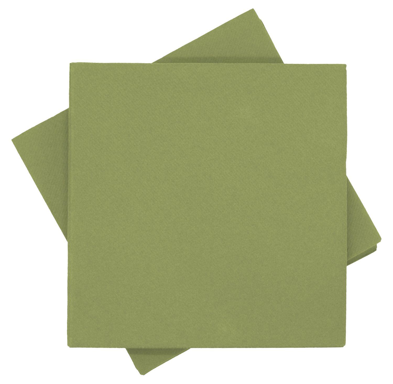 Servietten Tischdeko Grün Oliv Papierservietten 40 x 40 cm Partydeko Hochzeit Kommunion Konfirmation 25 Stück