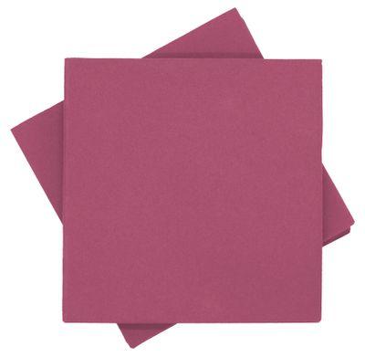 Servietten Tischdeko Pink Beere Fuchsia Kommunion Konfirmation Sommer Party 40x40 cm 25 Stück