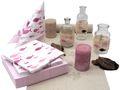 Tischdeko Kommunion Konfirmation Rosa Mauve Natur Vasen Streudeko SET 20 Personen  1
