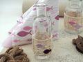 Tischdeko Kommunion Konfirmation Rosa Mauve Natur Vasen Streudeko SET 20 Personen  6