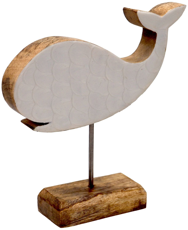 Figur Wal auf Ständer Aufsteller Tischaufsteller Holz Tischdeko Maritime Deko