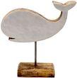 Figur Wal auf Ständer Aufsteller Tischaufsteller Holz Tischdeko Maritime Deko  1