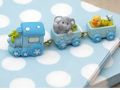 Tischdeko Taufe Baby Hellblau Blau Junge Party Deko SET Babyparty 20 Personen 7