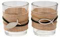 Kerzenhalter Teelichthalter Tischdeko Teelichtgläser Fisch Grün Natur Kommunion Konfirmation Maritim 2 Stück 1