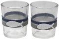 Kerzenhalter Teelichthalter Tischdeko Teelichtgläser Fisch Blau Grau Leinen Kommunion Konfirmation 2 Stück 1