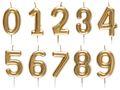 Geburtstag Kerze Geburtstagskerze Tortendeko Zahlen Gold 0 1 2 3 4 5 6 7 8 9 Deko 1
